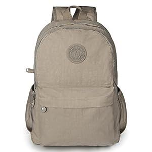 Oakarbo Mini Backpack Nylon Cute Travel Daypack (1317 Desert sand)