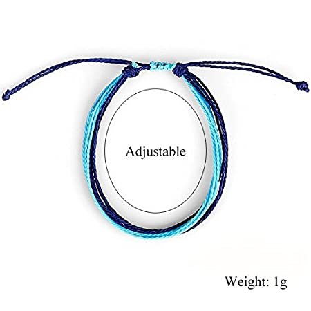 Handmade Rope Adjustable Wax String Bracelet Bangles Anklet GUOYIHUA
