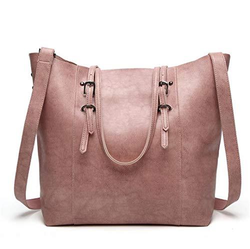 Pink Black Bag Bucket Brown Large Black Shoulder Ladies Large Brown Bucket vqwdZnHvz
