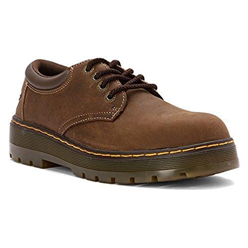 Dr. Martens Bolt Steel Toe 4-Eyelet Wyoming Shoes Dark Brown US Men 13 & Bandana