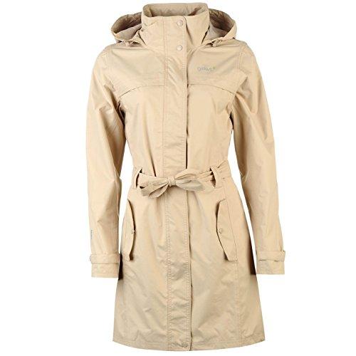 Gelert Womens Fairlight Jacket Top Coat Waterproof Hooded Full Zip Waist Belt Beige 12 (M) by Gelert (Image #3)