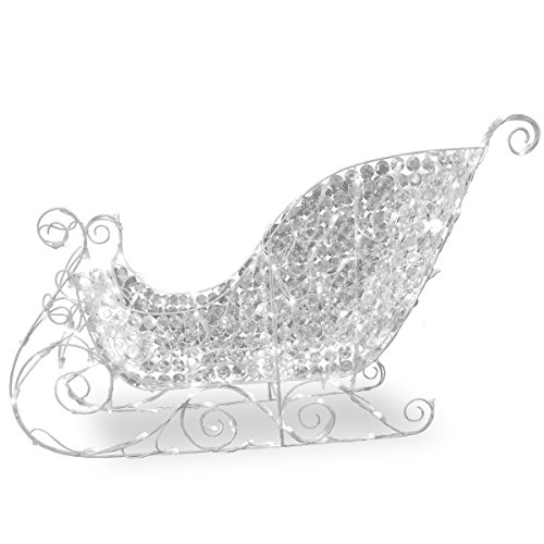 Crystal Sleigh - National Tree 60 Inch Crystal Sleigh with 120 White LED Lights (DF-210007)