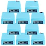 Beauties Factory Wholesale Lot : 10 X Blue Color Uv Gel Nail Art Curing Dryer Lamp