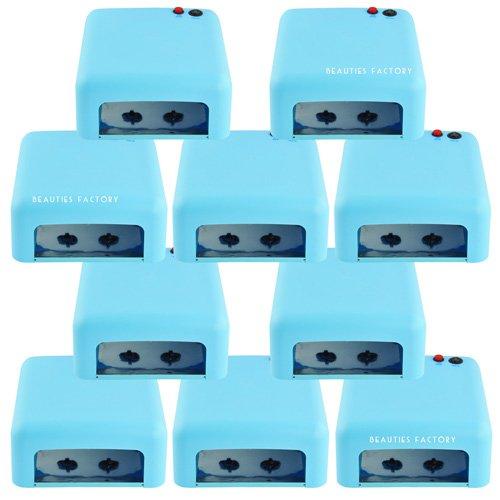 Beauties Factory Wholesale Lot : 10 X Blue Color Uv Gel Nail