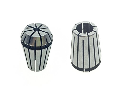 ER20 Spring Collet 4-3mm Clamping Range Round Chuck Mill Stainless Steel Milling Lathe Tool 2Pcs