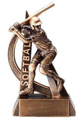 Ultra Action Elegant Softball Award - Trophy Resin Action