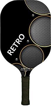 Pickle bola Paddle - Retro - núcleo de aluminio/Carbono Fibra de vidrio 7,2 oz - negro: Amazon.es: Deportes y aire libre