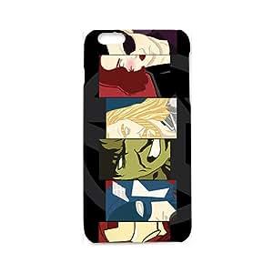 Cartoon Version The Avengers Poster Black/White Hard Case Skin for Apple iphone 6 3D Case(White)