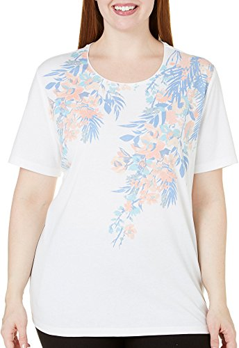 Floral Placement Print Top - 2