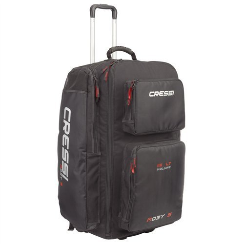 Cressi Strong Large Capacity Roller Luggage Bag 115L with Backpack Straps | Moby 5 Designed in Italy
