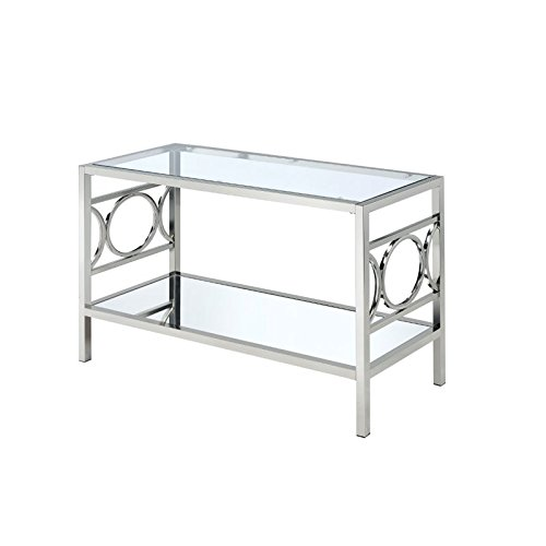 Cheap Furniture of America Beller Console Table in Chrome