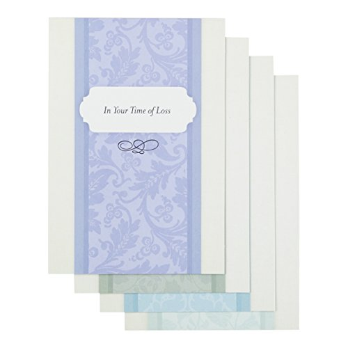 DaySpring Sympathy Boxed Greeting Cards w Envelopes - Simple Sentiments, 12 Count