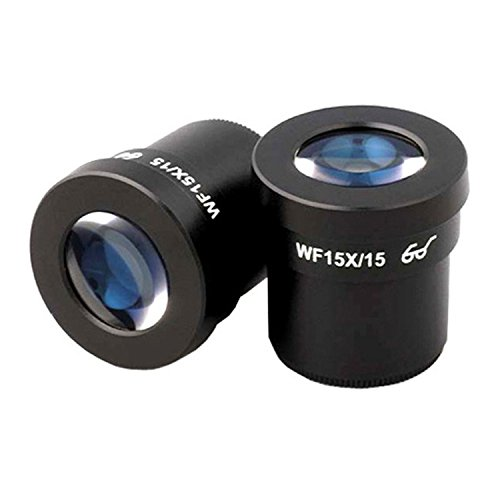 AmScope Pair of Super Widefield 15X Microscope Eyepieces (30mm)