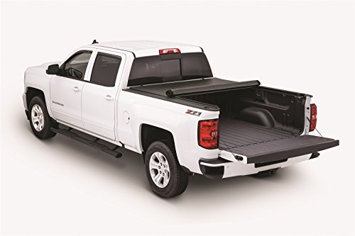 Tonno Pro LR-1050 Lo-Roll Black Roll-Up Truck Bed Tonneau Cover 2014-2018 Chevrolet Silverado / GMC Sierra 1500, 2015-2018 Silverado 2500, 3500 / GMC Sierra 2500 HD, 3500 | Fits 5.8' Bed