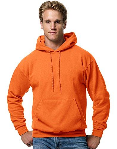 Hanes Men's Pullover EcoSmart Fleece Hooded Sweatshirt, Safety Orange X Large from Hanes