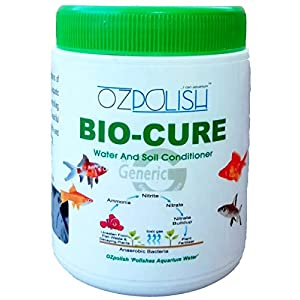OZpolish Bio-Cure by Aquatic Habitat | Aquarium Probiotic and Beneficial Bacteria | Fish Tank Cleaner, Reduce Ammonia(Dry; 100 g)
