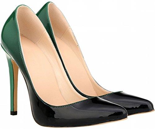 Zapatos mujer Verde cerrados Para Salabobo qFwdXP1X