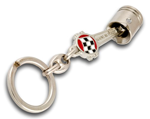 - Piston Key Ring in Solid Stainless Steel from CNC Machine Checkered Flag