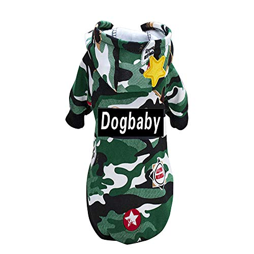 Dog Winter Camouflage Sweater, Laimeng_World Cute Puppy Pet Dog Cat Clothes Hoodie Winter Warm Sweater Coat Costume -