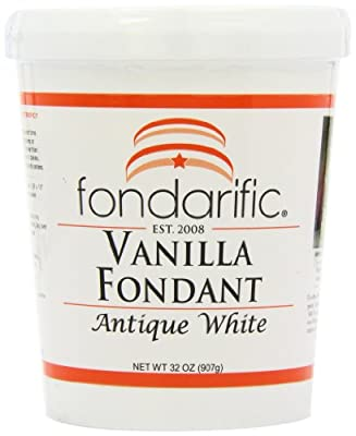Fondarific Vanilla Fondant Antique White, 2-Pounds