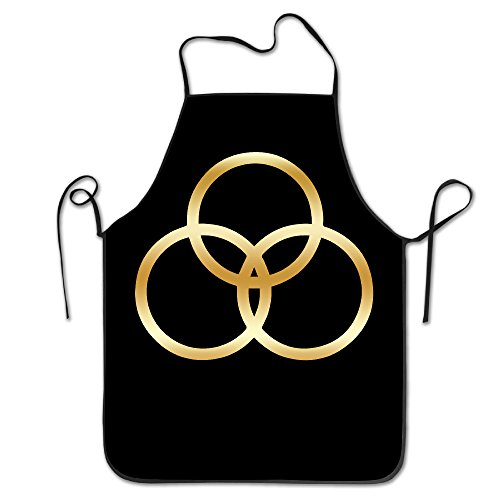 [Led Zeppelin John Bonham Gold Logo Kitchen BBQ Apron] (John Paul Jones Costumes)