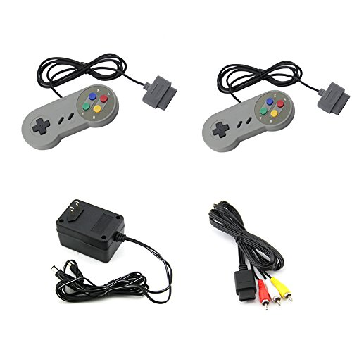 Super Bros Game Mario Original (Super Nintendo SNES AC Adapter / AV Adapter / 2 controllers)