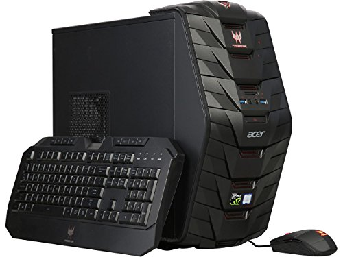 Acer Predator Full Tower Gaming Desktop, Intel i7-7700 3.6GHz Quad-Core, 32GB DDR4 2400, 1TB HDD + 256 GB SSD, Win 10, Customize with GTX 1060,1070,1070Ti,1080 (Certified Refurbished)