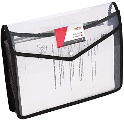 GreatDio Transparent Poly-Plastic A4 Documents File Storage Envelope Folder Bag with Snap Button