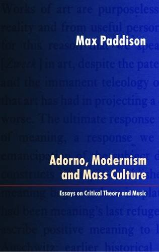 adorno music essays In the wake of the work of art, adorno published two essays, on jazz, and on the fetish character of music and the regression of listening, that ignored the particulars of pop.