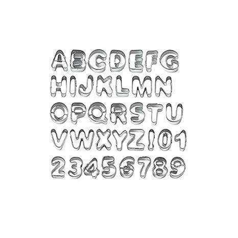 Molde para pasteles-TinkSky las letras del alfabeto Biscuit Cookie cortador de galletas con formas de galletas de moldes: Amazon.es: Electrónica