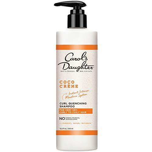Curly Hair Products by Carol's Daughter, Coco Creme Curl Quenching Shampoo for Very Dry Hair, with Coconut Oil and Mango Butter, Sulfate Free Shampoo For Curly Hair, 12 fl oz ()