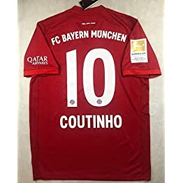 Coutinho#10 Bayern Munich Home Soccer Jersey 2019-2020 Full Patch