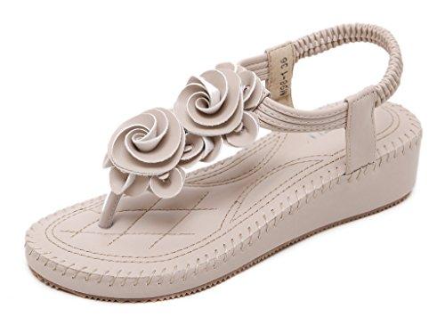 cinghia estate da casuali infradito Fortuning's sandali fiore spiaggia JDS T di elegante donne q8zztPX