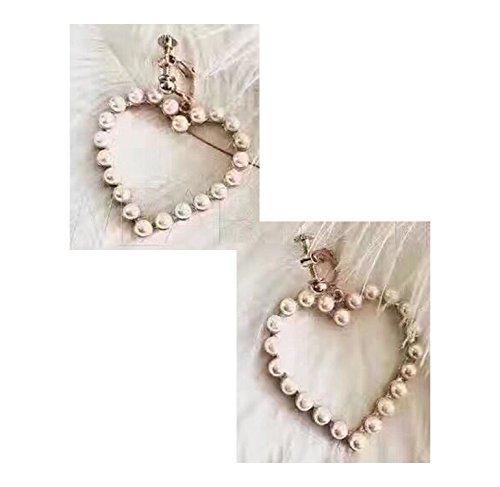 Kingwhisht Rose Hollow Pearl Love Allergy Silver Earrings Birthday Gift Ear Jewelry,Plated 18K Ear Buckle