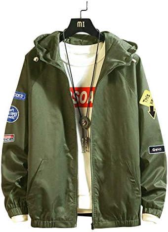 ウインドブレーカー ジャンパー メンズ ジャケット ブルゾン 裏地付き 軽量 防風 スポーツ カジュアル 刺繍ワッペン