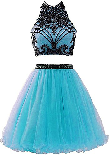 Dresses 2017 BD312 Piece Pool Beaded Neck Two Party High Prom Homecoming BessDress qnOtTpq