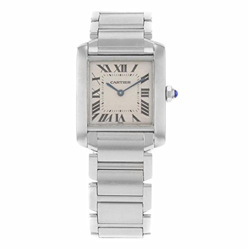 Cartier Tank analog-quartz womens Watch W51008Q3 (Certified Pre-owned)
