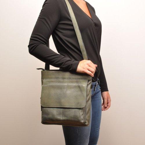 457 Berba Cross Bag Dark Green In Basel Vintage Over rrqpnH5w