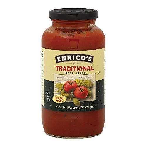 Enricos No Salt Pasta Sauce, 26 Ounce -- 12 per case. (Best Commercial Pasta Sauce)