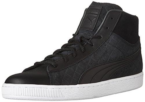 puma Mid Classic Sneaker Puma Suede Men's Quilt Black PUMA Black w1qnER78Et