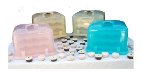 amazon com cupcake courier 36 cupcake plastic storage container