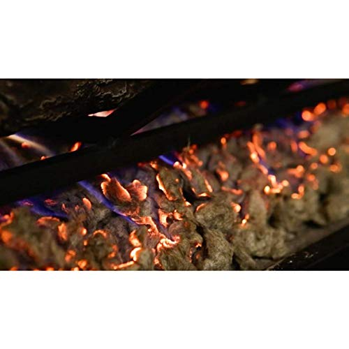 Regal Flame Platimum 7 oz Bright Rock Wool Gas Fireplace Glowing Embers for Gas Logs with Vermiculite Granules
