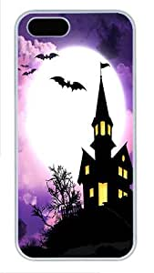 IMARTCASE iPhone 5S Case, Halloween Spooky House Polycarbonate Back Case for Apple iPhone 5s/5 White