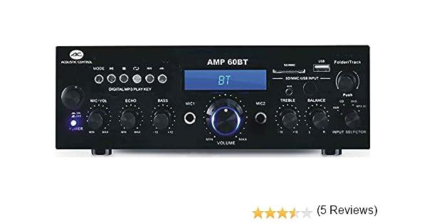 ACOUSTIC CONTROL AMP60BT AMPLIFICADOR HI-FI USB/MP3/BT/FM/REC ...