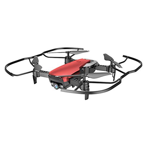 X12 Drone 0.3MP Camera WiFi FPV 2.4G One Key Return Quadcopter Toy Gift Solid Color Version Flying Machine Remote Professional Aircraft Specially For Beginners Air Vehicle (Red, 8.3 x 6.9 x 2.7in)