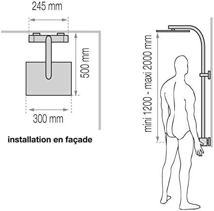 Valentin la columna de ducha con grifo, termostato y le: Amazon.es ...