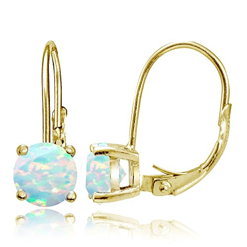 yellow-gold-flashed-sterling-silver-created-white-opal-6mm-round-leverback-earrings
