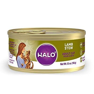 Halo Grain Free Natural Wet Cat Food, Lamb Recipe