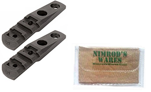 Nimrod's Wares Two MAGPUL M-LOK Polymer Cantilever Rail/Light Mounts MAG 587 Microfiber Cloth by Nimrod's Wares