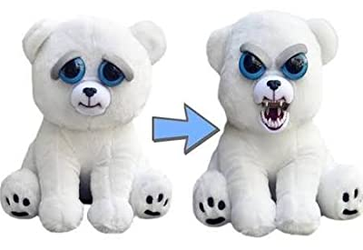 """William Mark- Feisty Pets: Karl the Snarl- Adorable 8.5"""" Plush Stuffed Polar Bear That Turns Feisty With A Squeeze ... by William Mark"""